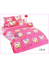 ผ้าปูที่นอนผ้านวมลายชาร์มมี่ คิตตี้ สีชมพู Charmmy Kitty CK10 - TOTO