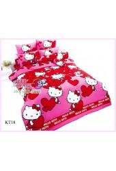ผ้าปูที่นอนโตโต้ ผ้านวม ลายคิตตี้ Hello Kitty KT18 ชุดเครื่องนอน TOTO