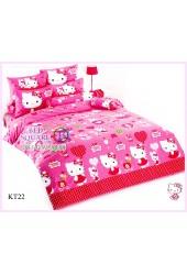 ผ้าปูที่นอนโตโต้ ผ้านวม ลายคิตตี้ Hello Kitty KT22 ชุดเครื่องนอน TOTO