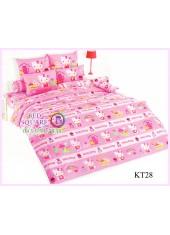 ผ้าปูที่นอนผ้านวมลายเฮลโลคิตตี้ Hello Kitty KT28 ชุดเครื่องนอน TOTO