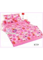 ผ้าปูที่นอนผ้านวมลายเฮลโลคิตตี้ Hello Kitty KT29 ชุดเครื่องนอน TOTO