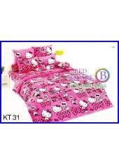 ผ้าปูที่นอนผ้านวมลายเฮลโลคิตตี้ Hello Kitty KT31 ชุดเครื่องนอน TOTO