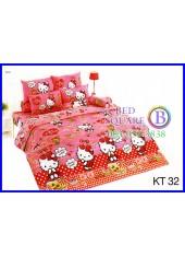 ผ้าปูที่นอนผ้านวมลายเฮลโลคิตตี้ Hello Kitty KT32 ชุดเครื่องนอน TOTO