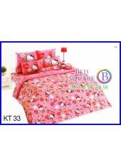 ผ้าปูที่นอนผ้านวมลายเฮลโลคิตตี้ Hello Kitty KT33 ชุดเครื่องนอน TOTO