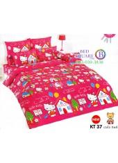 ชุดเครื่องนอนเฮลโล คิตตี้ Hello Kitty TOTO ผ้าปูที่นอน ผ้านวม ลิขสิทธิ์แท้โตโต้ KT37