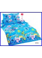 ผ้าปูที่นอนผ้านวมลายสติช Stitch ST01 ชุดเครื่องนอน TOTO