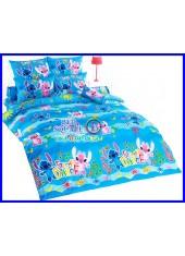 ผ้าปูที่นอนผ้านวมลายสติช Stitch ST02 ชุดเครื่องนอน TOTO