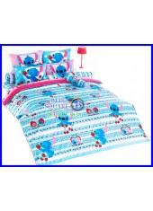 ผ้าปูที่นอนผ้านวมลายสติช Stitch ST03 ชุดเครื่องนอน TOTO