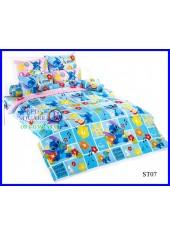 ผ้าปูที่นอนผ้านวมลายสติช Stitch ST07 ชุดเครื่องนอน TOTO