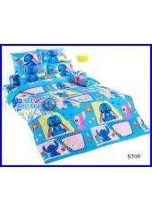 ผ้าปูที่นอนผ้านวมลายสติช Stitch ST09 ชุดเครื่องนอน TOTO