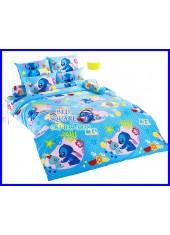 ผ้าปูที่นอนผ้านวมลายสติช Stitch ST10 ชุดเครื่องนอน TOTO