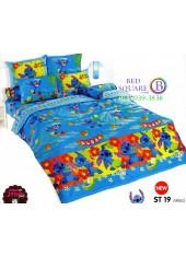 ชุดเครื่องนอนลีโล่ แอนด์ สติทช์ Lilo & Stitch TOTO ผ้าปูที่นอน ผ้านวม ลิขสิทธิ์แท้โตโต้ ST19