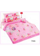 ผ้าปูที่นอนผ้านวมลายลิตเติ้ลทวินสตาร์ Little Twin Stars TS06 - TOTO