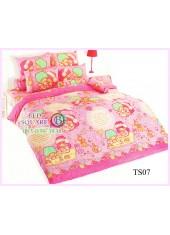 ผ้าปูที่นอนผ้านวมลายลิตเติ้ลทวินสตาร์ Little Twin Stars TS07  - TOTO