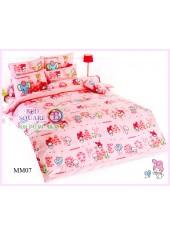 ผ้าปูที่นอน ผ้านวม ลายมายเมโลดี้ ชุดเครื่องนอน TOTO My Melody MM07