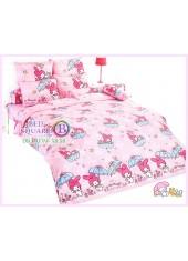 ผ้าปูที่นอน ผ้านวม ลายมายเมโลดี้ ชุดเครื่องนอน TOTO My Melody MM11