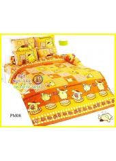ผ้าปูที่นอนผ้านวมลายปอมปอมปูริน Pom Pom Purin PM08 ชุดเครื่องนอน TOTO
