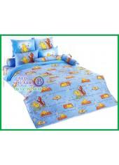 ผ้าปูที่นอนผ้านวมลายการ์ตูนหมีพูห์ Pooh Bear PH57 ชุดเครื่องนอน TOTO