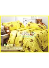 ผ้าปูที่นอนผ้านวม กันไรฝุ่น กันภูมิแพ้ Cotton 100 % ลายริลัคคุมะ Rilakkuma RKC001 สีเหลือง Jessica