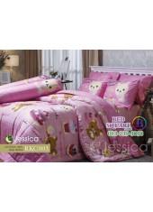 ชุดเครื่องนอนลายริลัคคุมะ Rilakkuma ตัวใหญ่ สีชมพู Jessica ผ้าปูที่นอน ผ้านวม Cotton 100% เจสสิก้า RKC003
