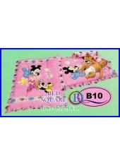 ที่นอนเด็กเล็ก เด็กอ่อน ซาติน ลาย Mickey & Minnie ลิขสิทธิ์แท้ B10 ชุดเครื่องนอน SATIN