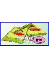 ที่นอนเด็กเล็ก เด็กอ่อน ซาติน ลาย Mickey & Minnie ลิขสิทธิ์แท้ B19 ชุดเครื่องนอน SATIN