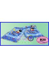 ที่นอนเด็กเล็ก เด็กอ่อน ซาติน ลาย Mickey & Minnie ลิขสิทธิ์แท้ B20 ชุดเครื่องนอน SATIN