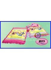 ที่นอนเด็กเล็ก เด็กอ่อน ซาติน ลาย Mickey & Minnie ลิขสิทธิ์แท้ B23 ชุดเครื่องนอน SATIN