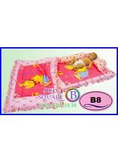 ที่นอนเด็กเล็ก เด็กอ่อน ซาติน ลายหมีพูห์ ลิขสิทธิ์แท้ B8 ชุดเครื่องนอน SATIN