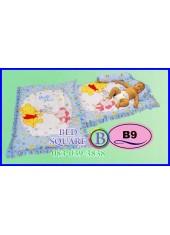 ที่นอนเด็กเล็ก เด็กอ่อน ซาติน ลายหมีพูห์ ลิขสิทธิ์แท้ B9 ชุดเครื่องนอน SATIN