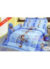 ผ้าปูที่นอนซาติน ผ้านวม ลายทอยสตอรี่ C114 ชุดเครื่องนอน Toy Story