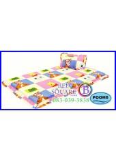 ที่นอน 3 ตอน ที่นอนปิคนิค ซาติน ลายหมีพูห์ ลิขสิทธิ์แท้ POOH6 ชุดเครื่องนอน SATIN