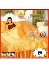 ผ้าปูที่นอนซาติน ผ้านวม แพรมัน แพรไหม สีส้ม ชุดเครื่องนอน P5 SATIN Silk Touch