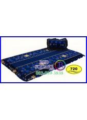 ที่นอน 3 ตอน ที่นอนปิคนิค ซาติน ลายดอก โทนน้ำเงิน SATIN720 ชุดเครื่องนอน SATIN