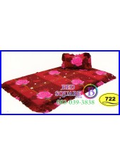 ที่นอน 3 ตอน ที่นอนปิคนิค ซาติน ลายดอกกุหลาบ โทนแดง SATIN722 ชุดเครื่องนอน SATIN