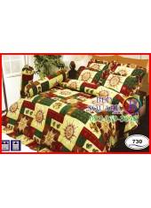 ผ้าปูที่นอนซาติน ผ้านวม ลายกราฟฟิก โทนสีแดง ชุดเครื่องนอน SATIN730