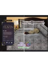 ชุดเครื่องนอนพิมพ์ลายสีเทา PC045 Premier Satin ผ้าปูที่นอน ผ้านวม Cotton 100%พรีเมียร์ ซาติน