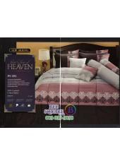 ชุดเครื่องนอนพิมพ์ลายสีชมพูเทา PC051 Premier Satin ผ้าปูที่นอน ผ้านวม Cotton 100%พรีเมียร์ ซาติน