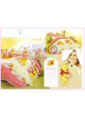 ชุดผ้าปูที่นอน ผ้าปูที่นอนผ้านวมลายหมีพูห์ Pooh Bear SATIN PK002