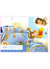 ชุดผ้าปูที่นอน ผ้าปูที่นอนผ้านวมลายหมีพูห์ Pooh Bear SATIN PK004