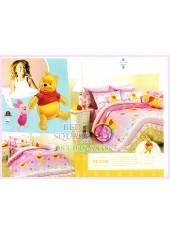 ชุดผ้าปูที่นอน ผ้าปูที่นอนผ้านวมลายหมีพูห์ Pooh Bear SATIN PK005