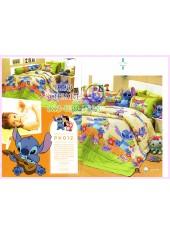 ชุดผ้าปูที่นอน ผ้าปูที่นอนผ้านวมลาย Lilo & Stitch SATIN PK012