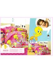 ชุดผ้าปูที่นอน ผ้าปูที่นอนผ้านวมลาย Looney Tunes Tweety SATIN PK013
