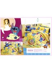 ชุดผ้าปูที่นอน ผ้าปูที่นอนผ้านวมลาย Lilo & Stitch SATIN PK014