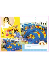 ชุดผ้าปูที่นอน ผ้าปูที่นอนผ้านวมลายหมีพูห์ Pooh Bear SATIN PK018