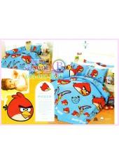 ชุดผ้าปูที่นอน ผ้าปูที่นอนผ้านวมลาย แองกี้เบิร์ด Angry Bird SATIN PK020