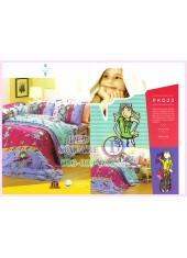 ชุดผ้าปูที่นอน ผ้าปูที่นอนผ้านวมลายการ์ตูนเด็กผู้หญิง SATIN PK023