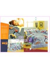 ชุดผ้าปูที่นอน ผ้าปูที่นอนผ้านวมลาย Rex เร็กซ์นักรบพันธุ์อีโว่ SATIN PK024