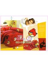 ชุดผ้าปูที่นอน ผ้าปูที่นอนผ้านวมลาย แองกี้เบิร์ด Angry Bird SATIN PK025