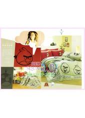 ชุดผ้าปูที่นอน ผ้าปูที่นอนผ้านวมลาย แองกี้เบิร์ด Angry Bird SATIN PK026